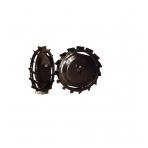 Metaliniai ratai su 32 cm frezomis