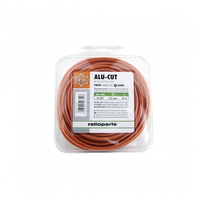 Pjovimo gija Alucutline (1,6 mm/15 m, oranžinė, 6-briaunė)