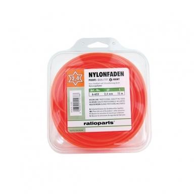 Pjovimo gija Ratioparts Nylon line (2,4 mm/15 m, oranžinė, 6-briaunė)