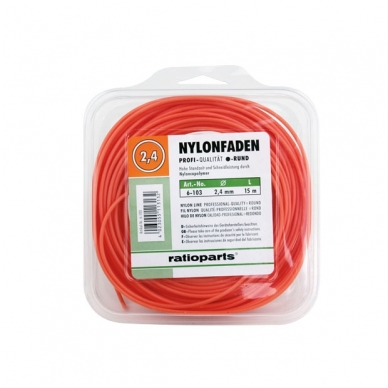 Pjovimo gija Ratioparts Nylon line (2,4 mm/15 m, oranžinė, apvali)