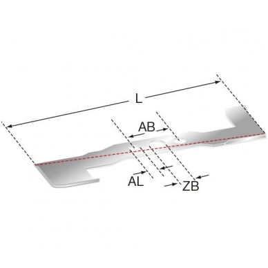 Pjovimo peilis Partner/Craftsman/Ariens/AYP traktoriukams, 53 cm. (107 cm. dekoms) 2